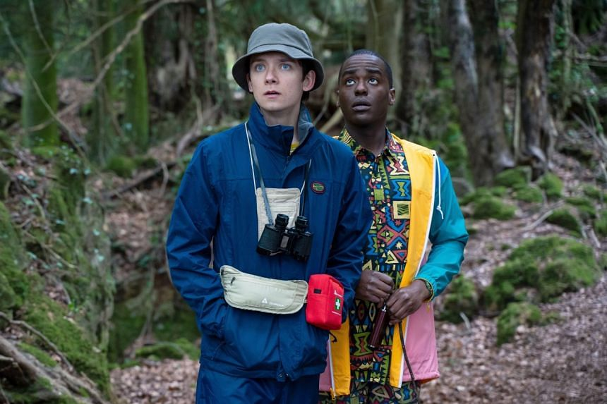 Asa Butterfield (left) and Ncuti Gatwa (right) star in Sex Education as Otis Milburn and Eric Effiong respectively.