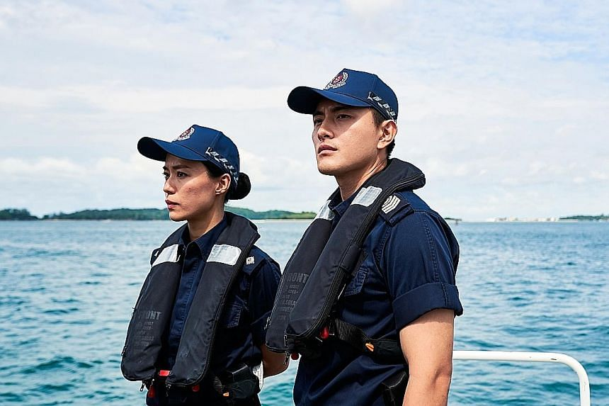 Long-running drama Kin, starring Thomas Ong (left), took top spot for most-watched local English dramas aired on Mediacorp platforms, with Last Madame, featuring Joanne Peh (right) in the titular role, coming in at No. 2. Supernatural drama Hello Fro