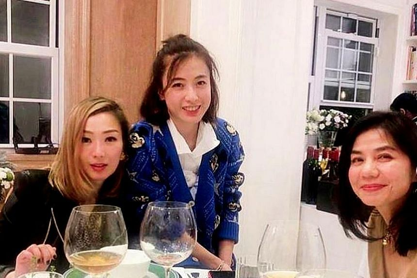 SCREEN BEAUTY'S YOUTHFUL LOOKS: Screen beauty Cherie Chung (far right) may be turning 60 next month, but looks as winsome as ever. The retired Hong Kong actress was seen in photos posted on Instagram on Monday by Hong Kong singer Sammi Cheng (right),