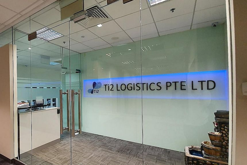 Ti2 Logistics was charged in the State Courts yesterday with making a false declaration to the Controller of Work Passes in an employment pass application. The Manpower Ministry has debarred the firm from hiring new foreign workers and renewing exist