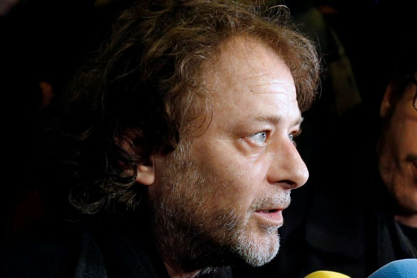 A 2015 photo shows French director Christophe Ruggia at a media briefing.