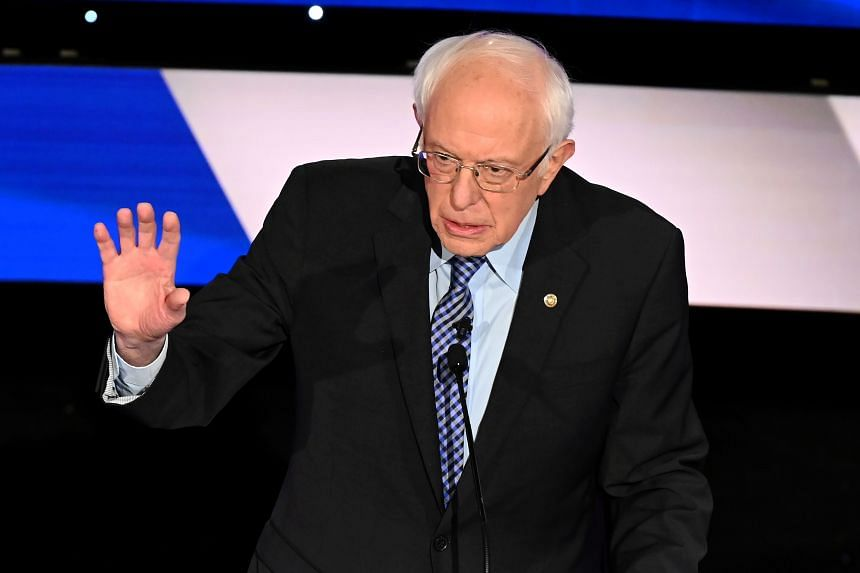 Presidential contender Bernie Sanders (pictured) reportedly said in 2018 that he did not believe a woman could beat Mr Donald Trump at the polls.