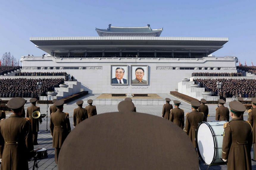 Soldiers at a rally at Kim Il Sung Square in Pyongyang, North Korea, on Jan 5, 2020.