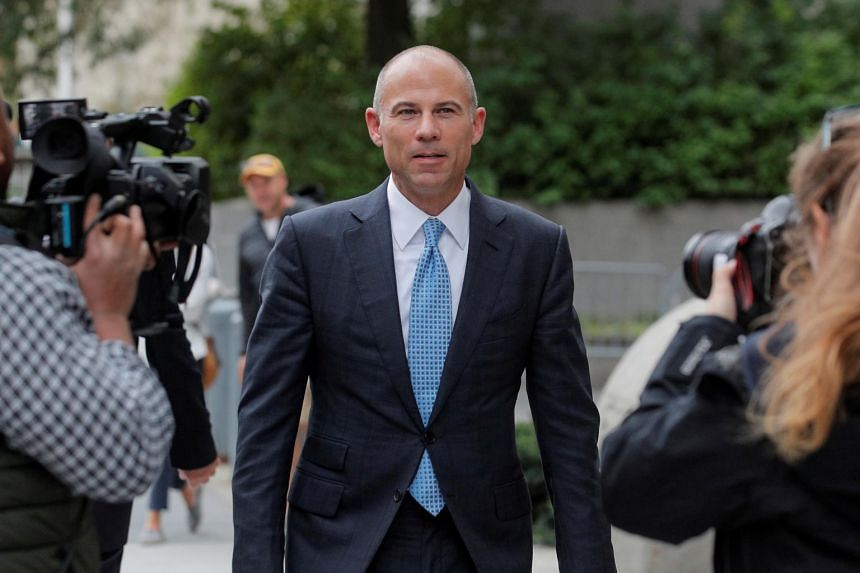 In a photo taken on Oct 8, 2019, attorney Michael Avenatti exiting the United States Courthouse in Manhattan.