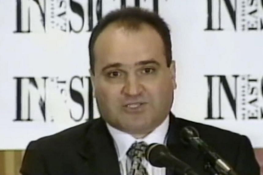 This 1998 file frame from video provided by C-SPAN shows George Nader, then-president and editor of Middle East Insight.
