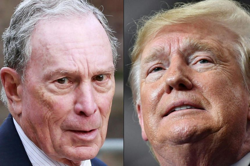 """Even if he doesn't win the nomination, former New York mayor Michael Bloomberg (left) has pledged to keep """"a chunk"""" of his staff working and major offices open to defeat US President Donald Trump."""