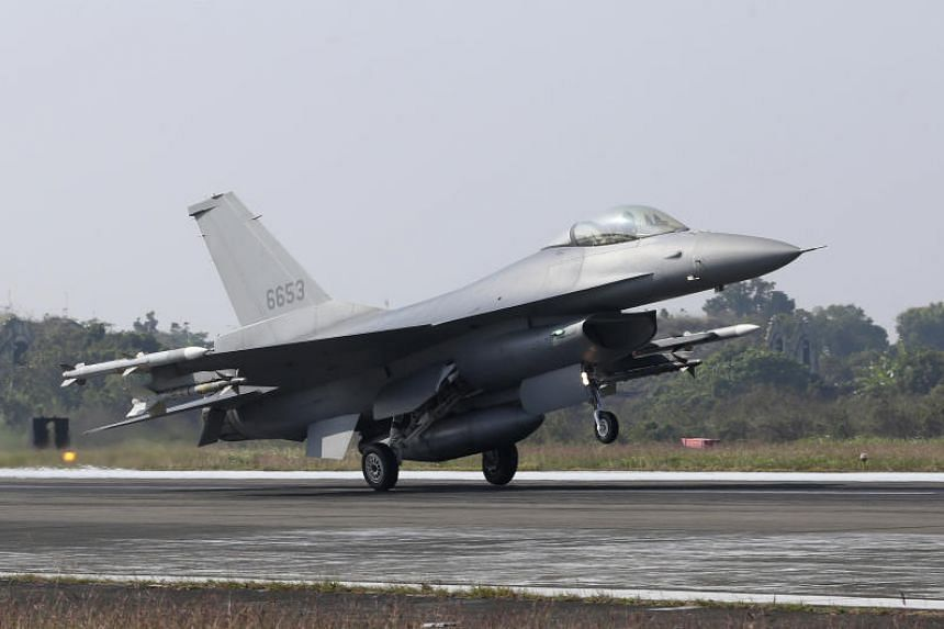 Surrounded by farmland near the coast, the Chiayi air base is Taiwan's first to be equipped with F-16Vs.