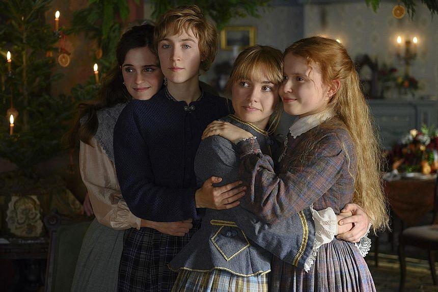 Little Women stars (from far left) Emma Watson, Saoirse Ronan, Florence Pugh and Eliza Scanlen.