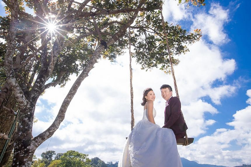 """Ms Velda Tan and Mr Keith Yeo chose to say """"I do"""" on Feb 22, 2020, as Ms Tan likes the number 2 and the date 22/2/2020 has a nice ring to it."""