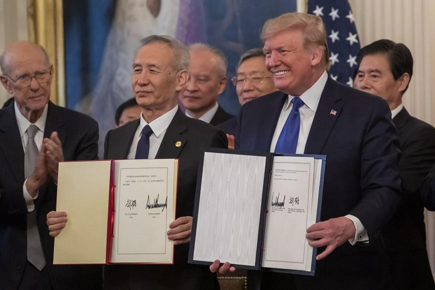 The agreement signed by President Donald Trump and Vice-Premier Liu He in Washington on Jan 15 marks a ceasefire in the nearly two-year-old trade war.