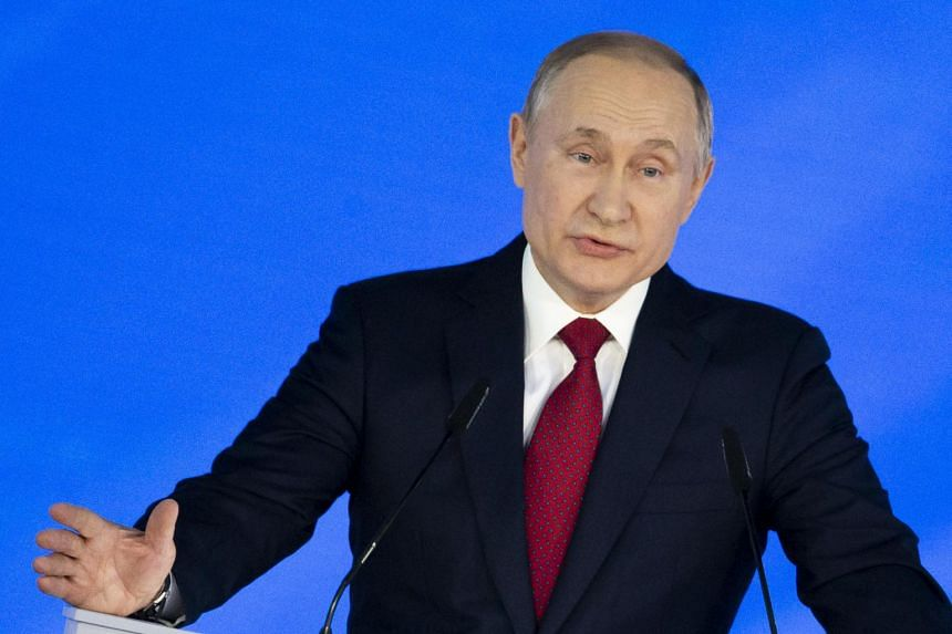 Russian President Vladimir Putin addresses the State Council in Moscow, on Jan 15, 2020.