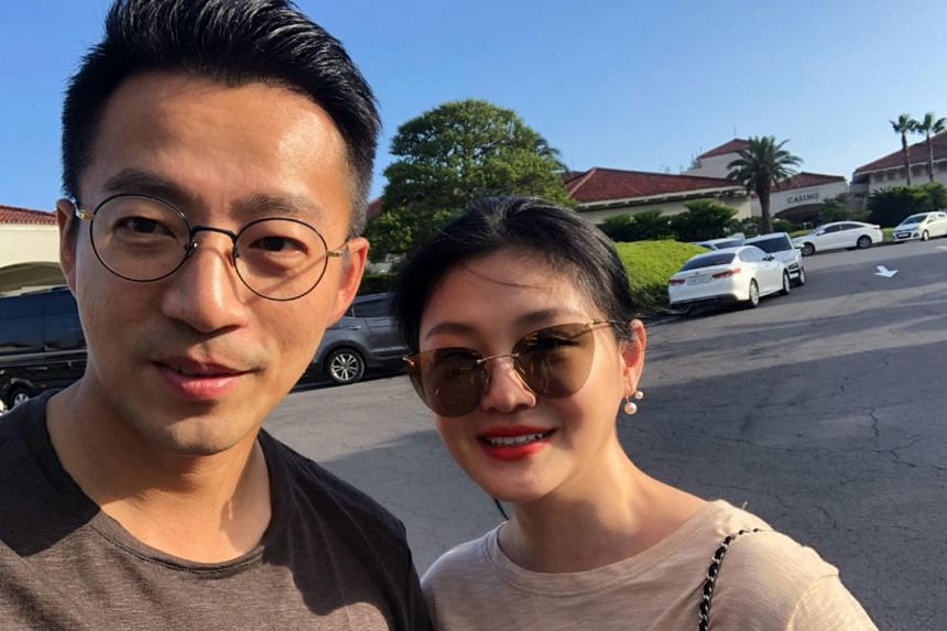Chinese businessman Wang Xiaofei (left), who is married to Taiwanese actress Barbie Hsu, posted on Weibo a video of him having an altercation with a taxi driver in Taipei.