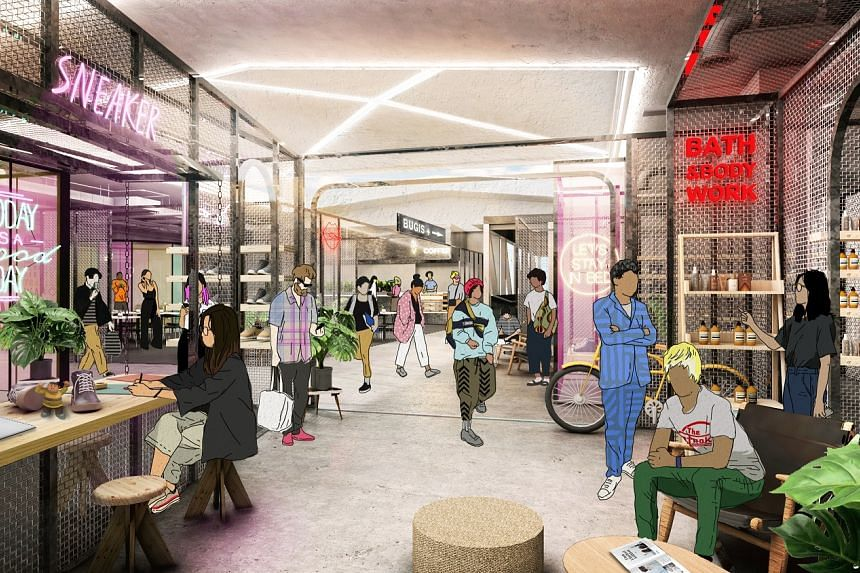 A section of the revamped Bugis Village and Bugis Street will be a hub offering established brands and new entrants an incubator space to innovate new ways of creating curated brand experiences or pilot new concepts.