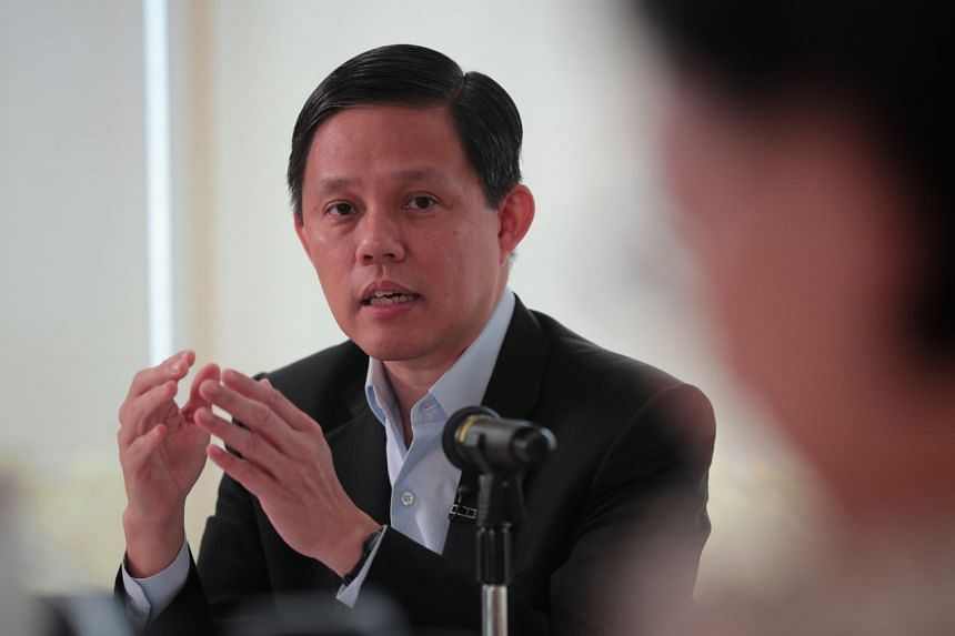 Trade and Industry Minister Chan Chun Sing speaks during a media briefing on Jan 16, 2020. ST PHOTO: JASON QUAH