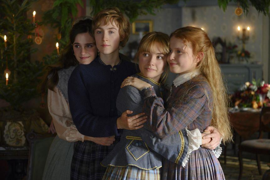 (From left) Still from the film Little Women featuring Emma Watson, Saoirse Ronan, Florence Pugh and Eliza Scanlen.
