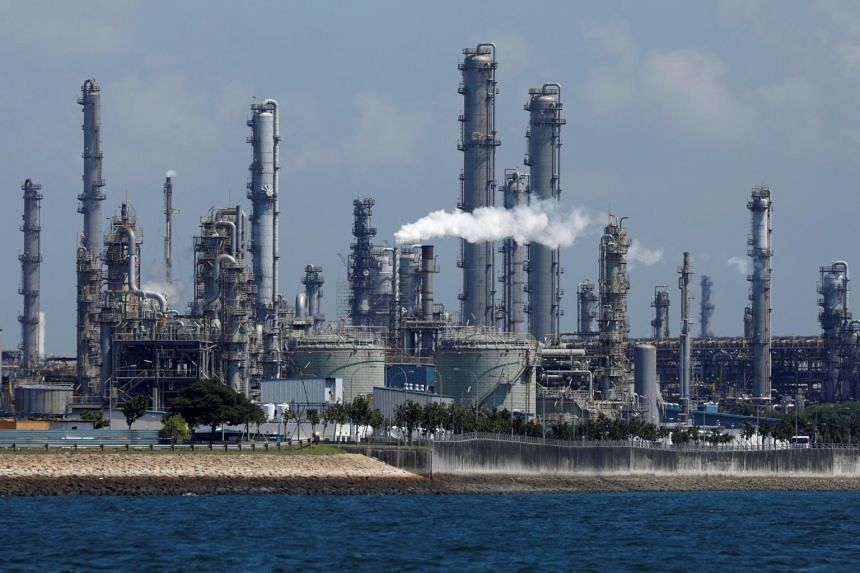 A view of Shell's Pulau Bukom petrochemical complex on July 15, 2019.
