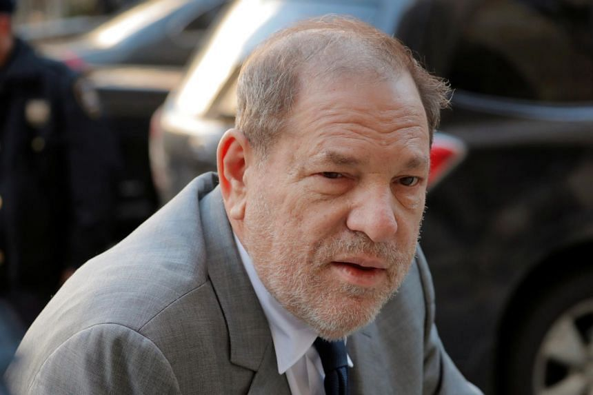 Film producer Harvey Weinstein arrives at New York Criminal Court for his sexual assault trial in New York on Jan 15, 2020.