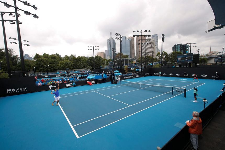 General view during a qualifying match of the Australian Open Previews in Australia on Jan 16, 2020.