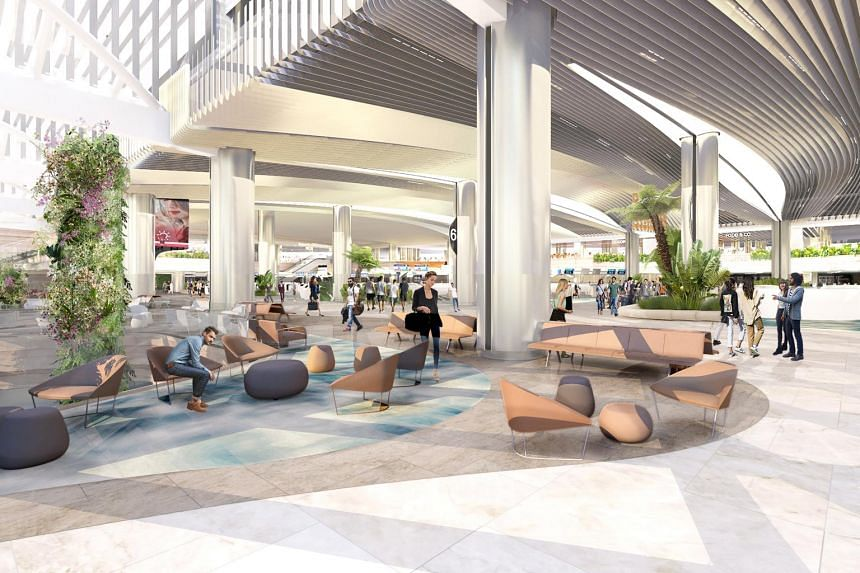 Artist's impression of the departure hall: A Refreshed Gateway to Terminal 2.