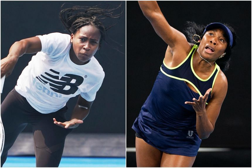 Coco Gauff (left) and Venus Williams will meet in the first round of a Grand Slam tournament.