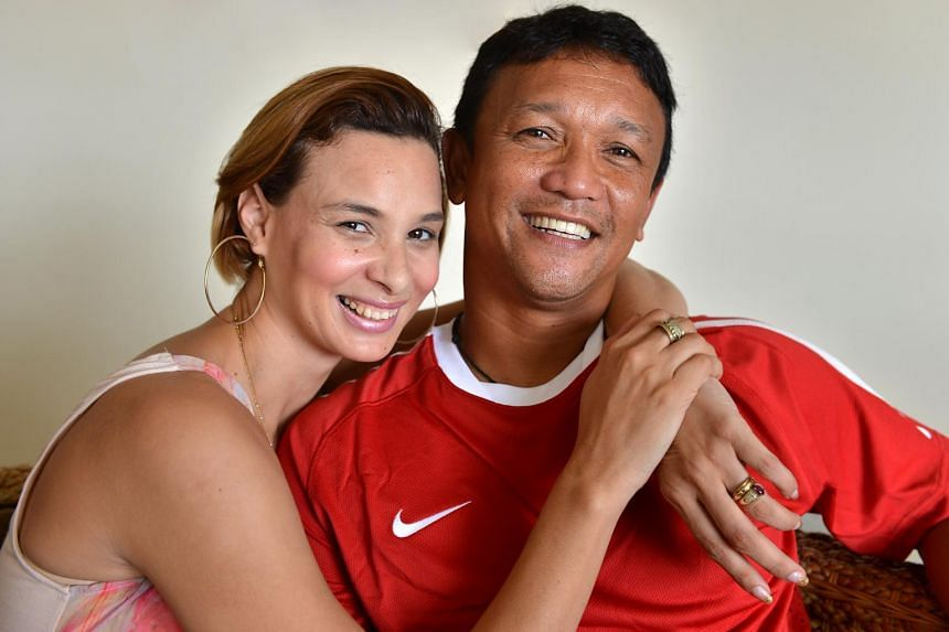 Fandi Ahmad and his wife Wendy Jacobs.