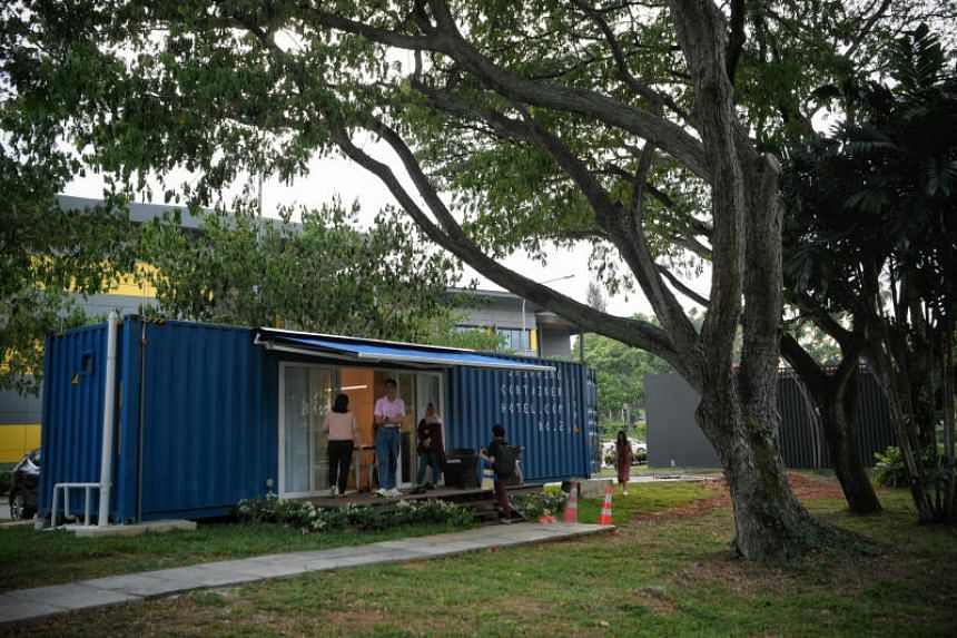The Shipping Container Hotel opened at JTC Corporation's start-up cluster, Launchpad @ one-north on Jan 17, 2020.