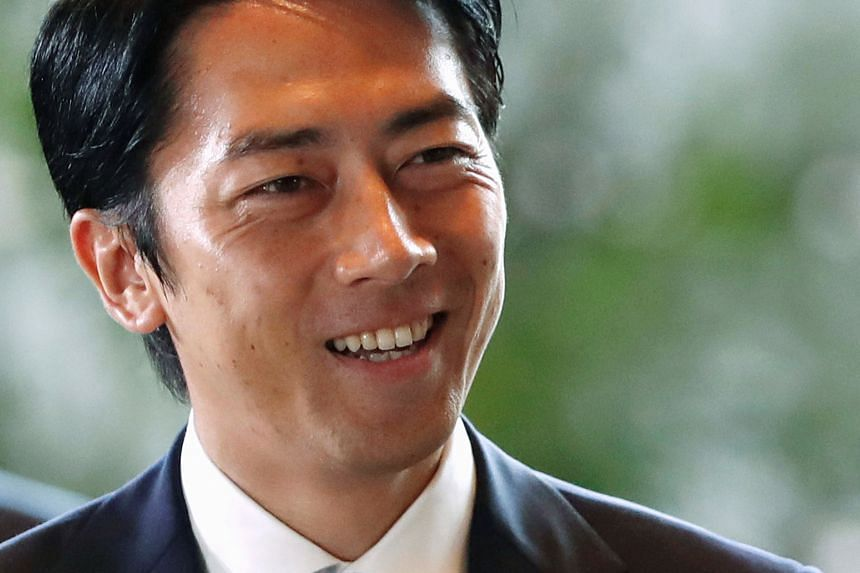 Japanese Environment Minister Shinjiro Koizumi said he was planning to take two weeks of leave over three months, in an effort to become a role model for Japan's working fathers.