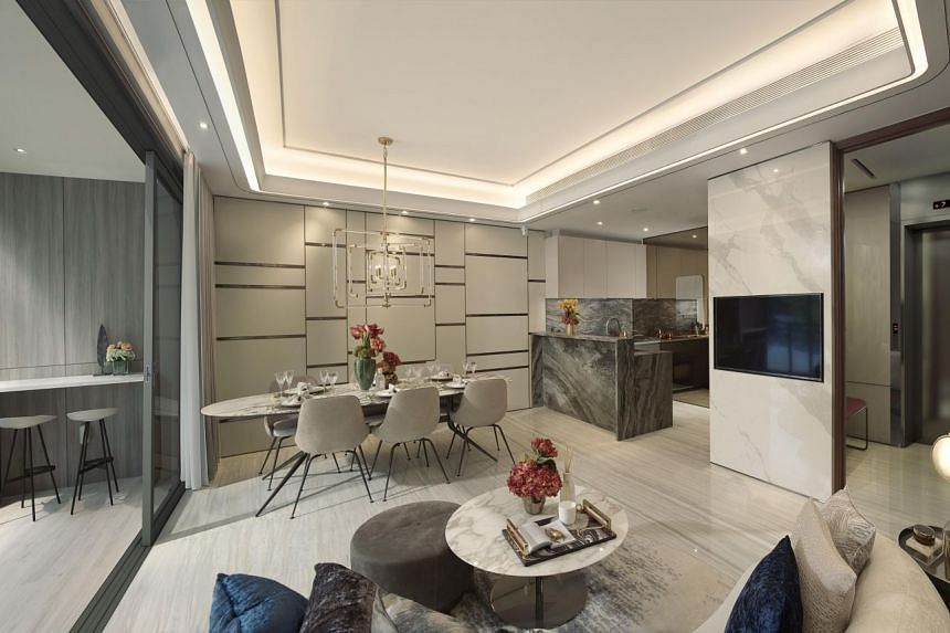 (Photo of show unit) Leedon Green's units are conceptualised by Hong Kong's celebrated interior designer PTang Studio Limited. PHOTO: LEEDON GREEN