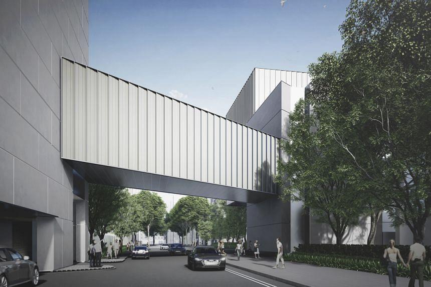 An artist's impression of the Singapore Art Museum's new gallery bridge.