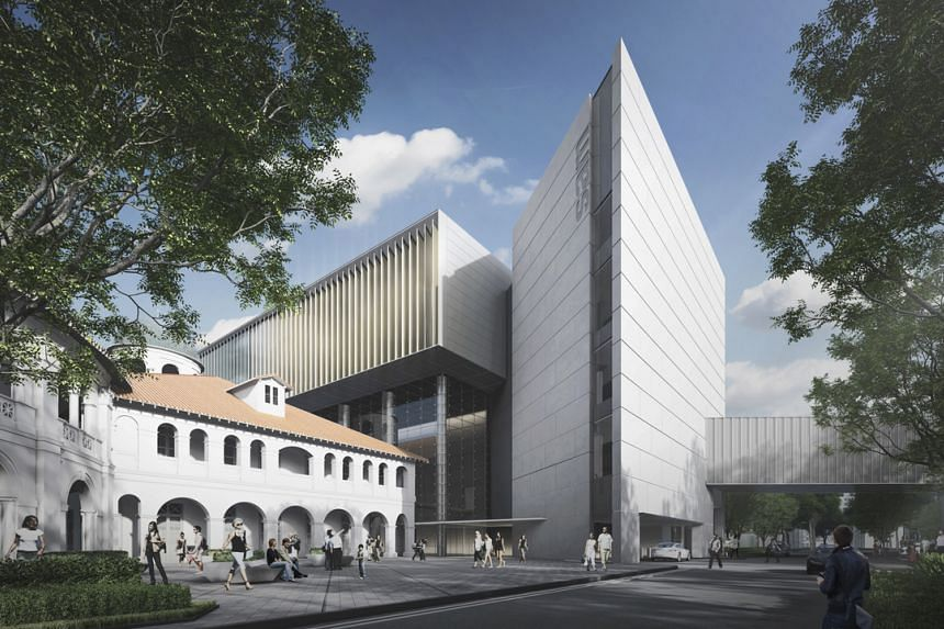 An artist's impression of the Singapore Art Museum's new building design.