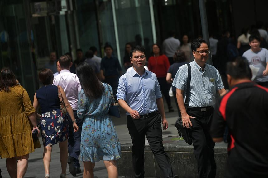 Office workers in the Central Business District.