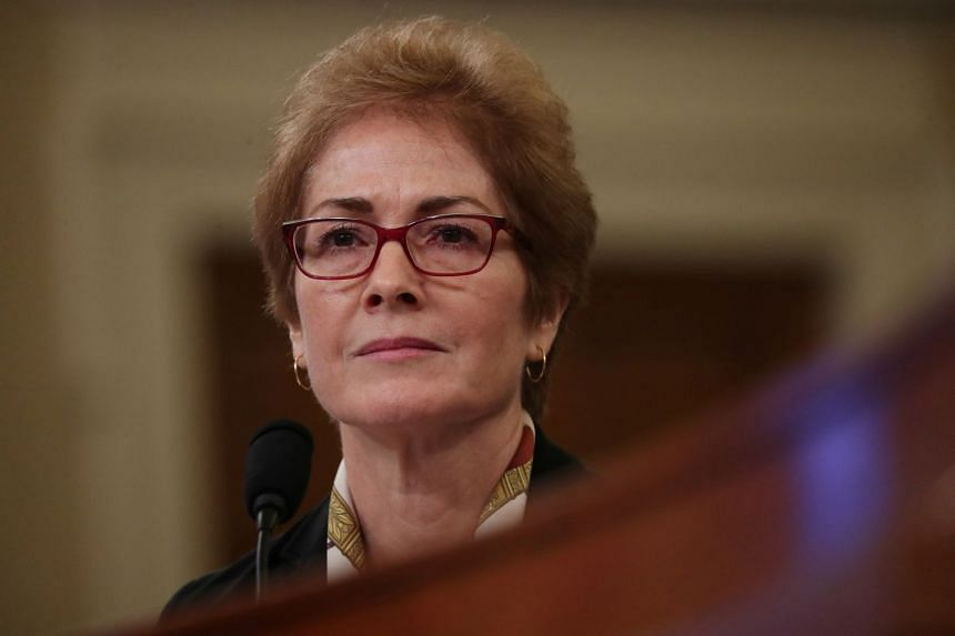 Marie Yovanovitch testifies before a House Intelligence Committee hearing as part of the Trump impeachment inquiry.
