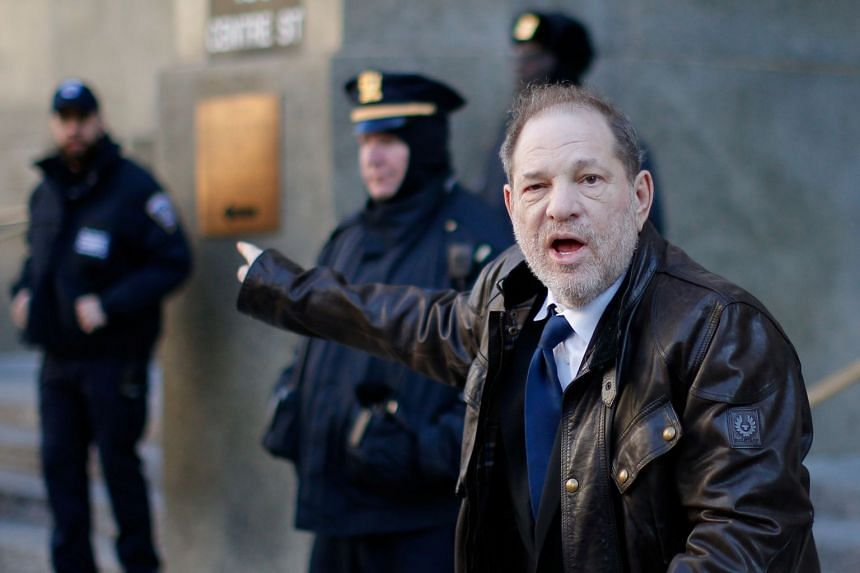 Weinstein exits the New York Criminal Court during his sexual assault trial, Jan 17, 2020.