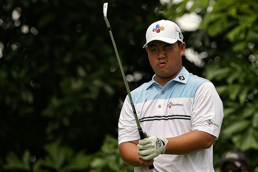 South Korean Kim Joo-hyung is just one shot off the lead after firing a five-under 66 in the second round of the SMBC Singapore Open yesterday. At 17, he is already a winner on the Asian Tour.