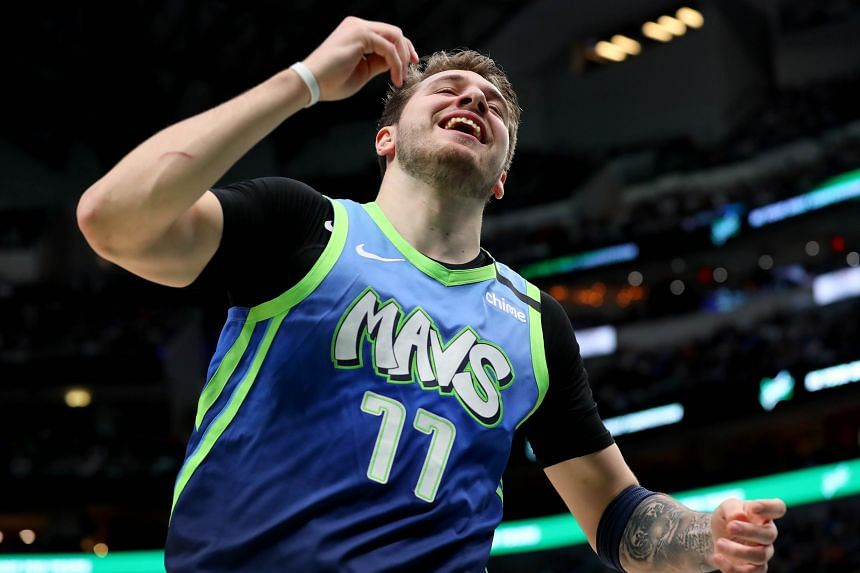 The Dallas Mavericks' Luka Doncic made a career-best eight three-pointers and recorded 35 points, eight rebounds and seven assists during a 120-112 victory against the Portland Trail Blazers on Jan 17, 2020.