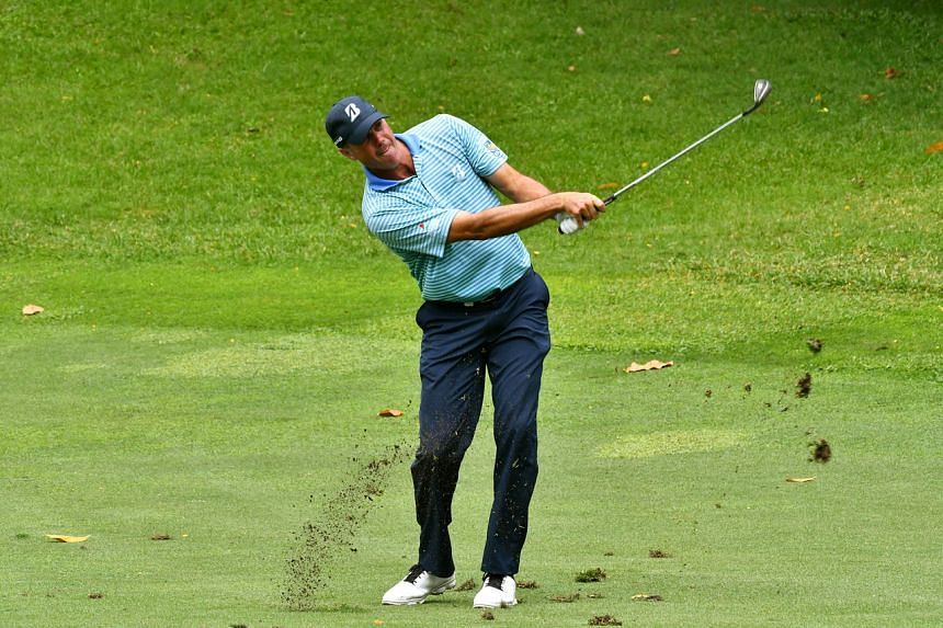 Matt Kuchar in action during the third round of the SMBC Singapore Open at Sentosa's Serapong Course on Jan 18, 2020.