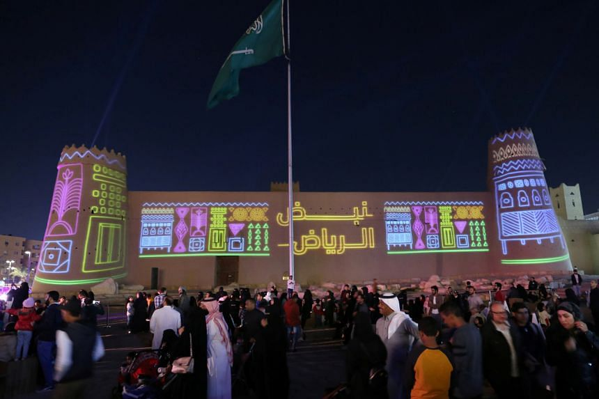 "A photo taken on Dec 6, 2019, shows a former execution site which has been turned into a cultural showcase, titled ""Riyadh's Pulse"", during Riyadh Season."