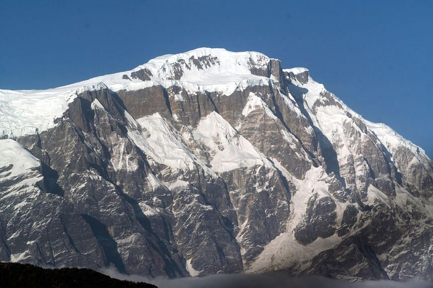 A 2007 file photo showing an aerial view of the Himalayan Mountains and the Annapurna south range. Annapurna is an avalanche-prone and technically difficult mountain and has a higher death rate than Everest.