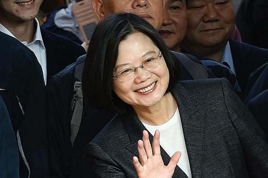 Taiwan President Tsai Ing-wen in a confident mood during the Jan 11 presidential election. The most contentious issue is still the island's fraught relationship with mainland China.
