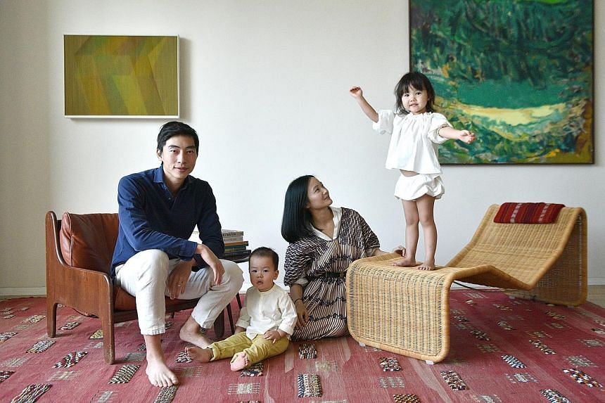 Mr Gregory Van with his family - son Alexander, wife Jing Yi, and daughter Emilia - at home. The Hong Konger moved to Singapore in 2011 to take up his first full-time job at UBS after graduating from the University of Pennsylvania. In 2017, Mr Van st