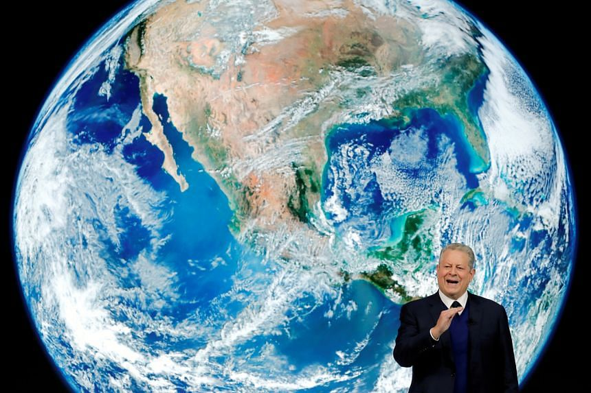 In a picture taken on Jan 22, 2019, former US Vice-President and Climate Reality Project Chairman Al Gore speaks as he attends the World Economic Forum annual meeting in Davos, Switzerland.