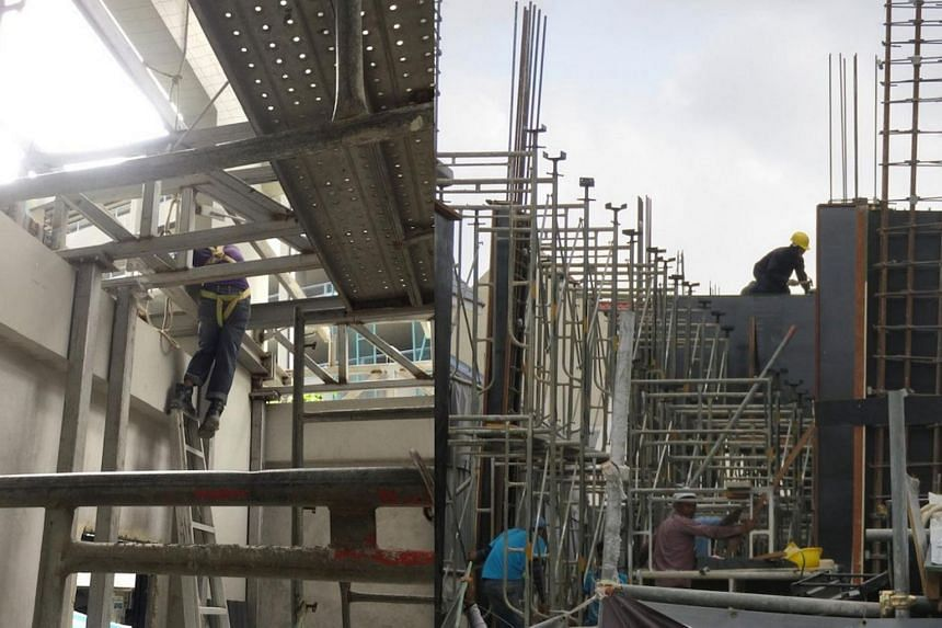 Workers were seen at worksites where no means of access were provided.