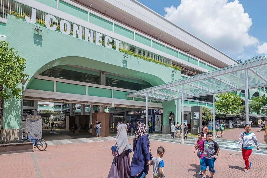 Jurong East Town Centre has been renamed J Connect, and its building facade and communal spaces were overhauled and given a modern look with lush landscaping.