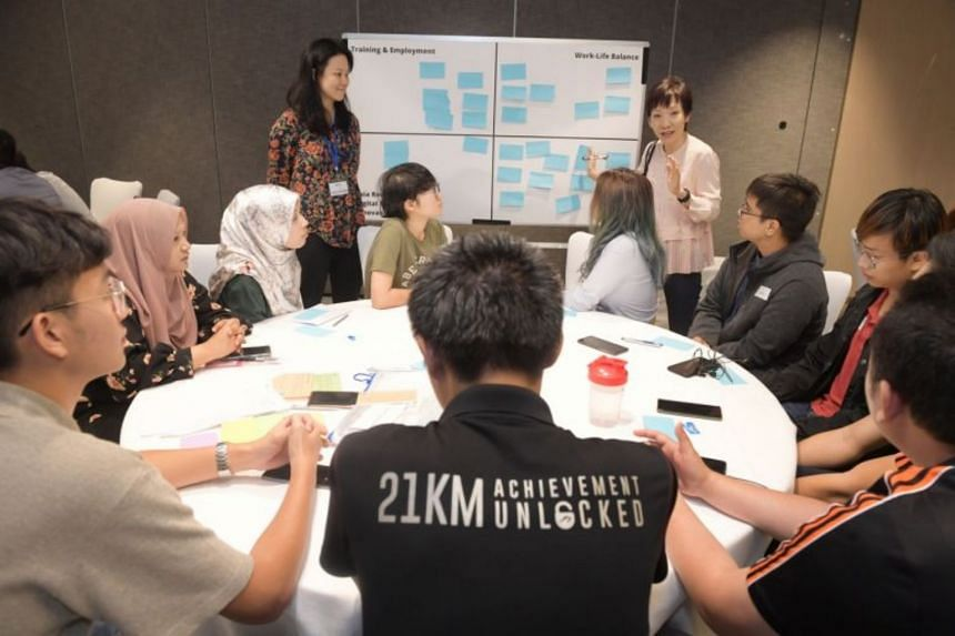 Minister for Culture, Community and Youth Grace Fu at the National Youth Council's youth engagement session on Jan 18, 2020.
