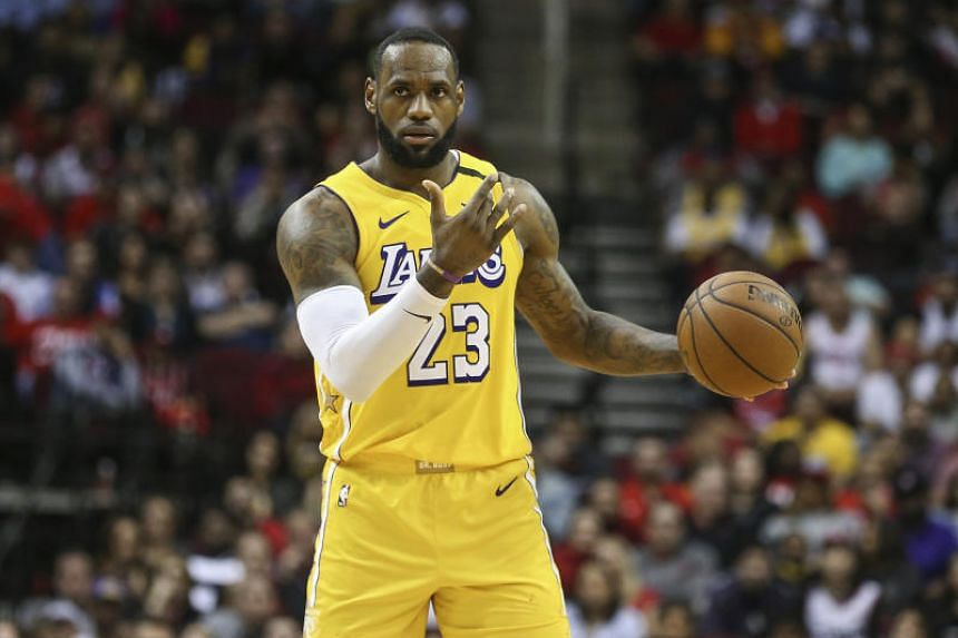 Los Angeles Lakers forward LeBron James dribbles the ball against the Houston Rockets at Toyota Center on Jan 18, 2020.