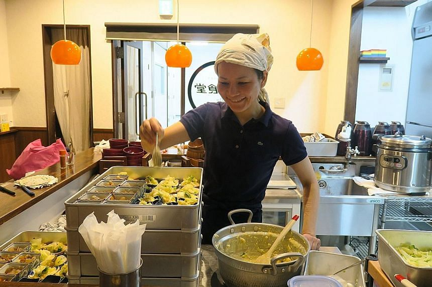 Ms Sekai Kobayashi quit her IT engineer job to open 12-seater eatery Mirai Shokudo in Tokyo's Jimbocho district. The restaurant is built on the idea of an inclusive community, allowing customers to help out in exchange for a meal, which they may also