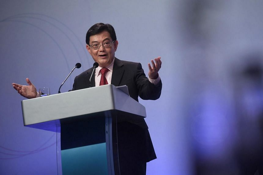 Deputy Prime Minister Heng Swee Keat delivers his speech during the Institute of Policy Studies' annual Singapore Perspectives conference at the Sands Expo and Convention Centre at Marina Bay Sands on Jan 20, 2020.