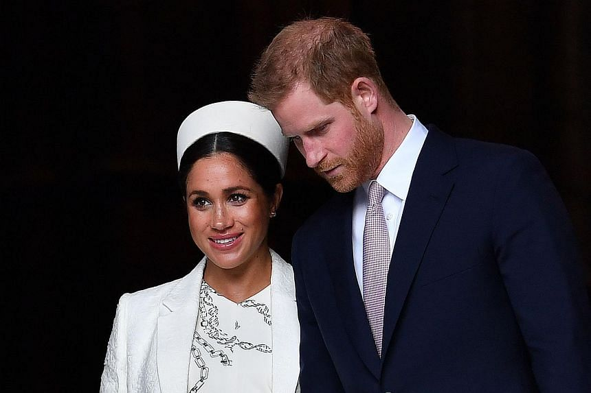 Prince Harry and wife Meghan attending a Commonwealth Day Service at Westminster Abbey in central London, on March 11, 2019.