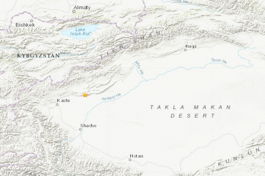 The shallow quake struck at 9.27pm around 100km east-northeast of the ancient Silk Road city of Kashgar.