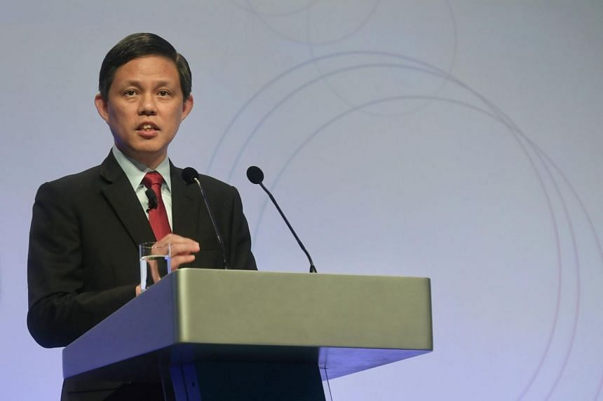 Minister for Trade and Industry Chan Chun Sing delivers his speech during the question-and-answer session at the Singapore Perspectives conference at Marina Bay Sands on Jan 20, 2020.